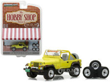 1991 JEEP YJ YELLOW WITH WHEEL AND TIRE SET 1/64 DIECAST BY GREENLIGHT 97030 D