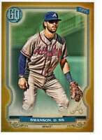Dansby Swanson 2020 Topps Gypsy Queen 5x7 Gold #221 /10 Braves
