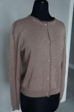 NEW Anthropologie Day Birger Mikkelsen Button Down Taupe Shimr Cardigan Jacket S