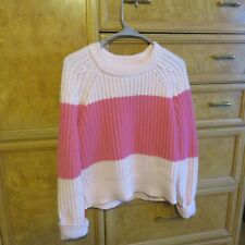 Women's Kate Spade New York Pink stripe sweater wool blend size S new NWT $328