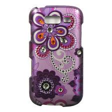 For Samsung Galaxy S BLAZE 4G Spot Diamond HARD Case Phone Cover Purple Violet
