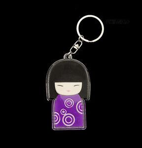 Porte Clés Collection Poupee Japonaise Kokeshi Violet E7 8352