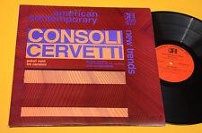 CONSOLI CERVETTI LP SCIURI NOVI ORIG USA 1977 EX CONTEMPORARY AVANTGARD