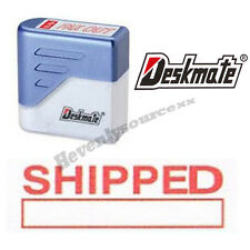 { SHIPPED } Deskmate Red Pre-Inked Self-Inking Rubber Stamp #KE-S05