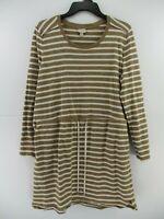 Merona Womens Size XL Long Sleeve Stripe Drawstring Pull Over Top Dress