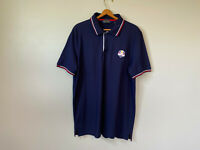 Polo Golf Ralph Lauren 2014 Ryder Cup Team USA Shirt Mens XL Navy Blue Stars
