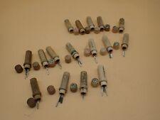 Lot of 16 Vintage Boye Sewing Machine Wood Tube Cases w/ Needles Assorted Sizes