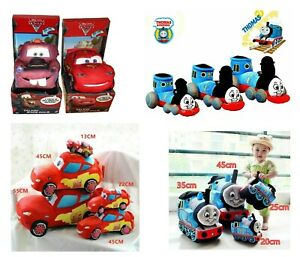 Kids Soft Stuffed Plush Doll Cars Mcqueen Mater Thomas Train Play Gift Xmas Toy