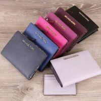 Michael Kors JET SET TRAVEL 2 IN 1 Leather Medium  CARRYALL Wallet + Card  Case