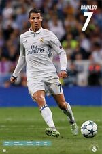 "CRISTIANO RONALDO POSTER ""REAL MADRID FC NO. 7 ""LICENSED"" BRAND NEW ""SOCCER"""