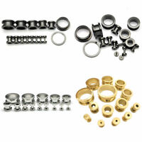 1 PAIR Stainless Steel Ear Tunnels Gauges Flesh Plugs Ear Expanders Stretcher