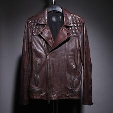 ALL SAINTS Oxblood Conroy Leather Jacket Size S SMALL kushiro cargo callerton