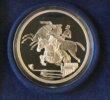 2004 Equestrian Olympics Athens Greece Silver Horse Coin 10 Euro {78}