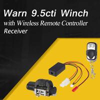 Warn 9.5cti Winch + Wireless Remote Controller Receiver For 1/10 RC Crawler Car