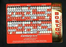 Boston Red Sox--2019 Magnet Schedule--Century Bank