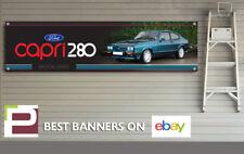 Ford Capri 280 Brooklands Banner for Workshop, Garage, Office, PVC with eyelets