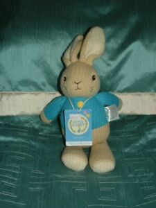"""PETER RABBIT BY RAINBOW DESIGNS 2018 MADE WITH LOVE 12"""" PLUSH SOFT TOY TAGGED"""