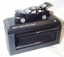 BMW 4 Series Gran Coupe Carbon Black Dealer model 1-43 Scale Opening Parts New