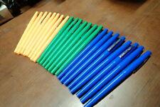 Huge Lot Of 23 Papermate 860 Nylon Fiber Point Porous Pens Blue Green Yellow New