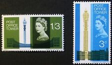 Opening of Post Office tower stamps, GB, Elizabeth II, SG ref: 679 & 680p, MNH