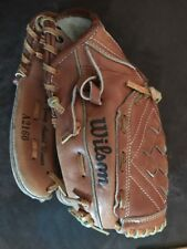 """WILSON ROGER CLEMENS A2160 Autograph 10"""" Youth RHT Leather Glove Mitt Right Hand"""