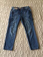 "BNWT Next Blue Denim Taper 7/8 Everyday Jeans Sz 10 L27"" Ankle Grazers Short B4"
