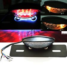 custom Motorcycle Brake Tail License Plate Turn Signal Light Bracket Holder USPS