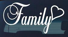FAMILY STICKER DECAL LOVE CAR 4x4 ute WINDOW HEART