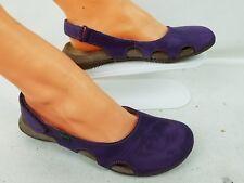 EL Naturalista Women's Purple Leather Straps  Slip-On Sandal Size 37 US 7