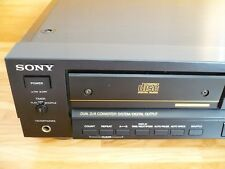 SONY CDP-555ESD LECTOR COMPACT DISC . PERFECT with ORIGINAL SONY REMOTE CONTROL