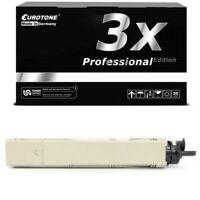 3x Eurotone Pro Toner Black for Oki C-3400-N C-3450-N C-3600-N C-3300-N