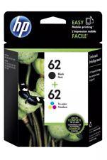 HP 62 Black & Tri-color Original Ink Cartridges Combo 2pack N9H64FN New EXP 2018