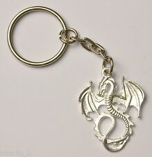 Hand-Made Silver Colour Dragon Keyring/Charm KR083