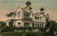 Residence Paul De Longpre Famous Flower Painter Hollywood California CA Postcard