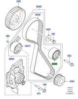 LAND ROVER GENUINE IDLER PULLEY-Discovery Sport,Freelander,Range Rover Evoque F1