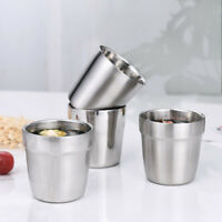 Stainless Steel Mug Cup Double Layer Coffee Tea Water  Cup Insulation Cup US