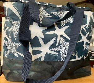 Thirty-One Sand N' Shore Thermal Tote Navy Starfish Splash ~ NEW ~ RETIRED