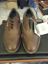 Men's Reebok Gore-Tex Brown Wingtip Golf Shoes - Size 9 1/2 - Brand New - AS IS