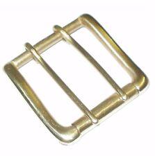 """2"""" pollici 5cm SOLIDO CAST Ottone Cintura Cinghia Fibbia A Rullo singolo doppio ardiglione"""