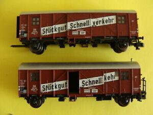 """Minitrix 15111 Leig-Einheit """"Stückgut Schnellverkehr"""" DB, Spur N, Top Zustand"""