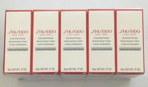 5 x Shiseido Essential Energy Moisturizing Cream 5ml each - 25ml total