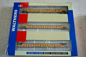 HO SCALE, WALTHERS GOLDLINE 932-3943 NSC 3-UNIT TTX 53' WELL STACK CARS MIB