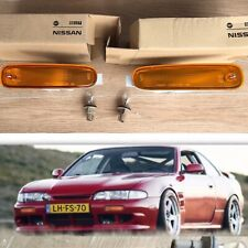 NEW NAVAN Jdm Amber Indicator S14 200sx 240sx Oem Zenki Turn Signal Light SET