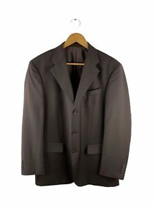 RDX Button Up Blazer Suit Jacket Mens Size 102R Brown Lined Collared Pockets