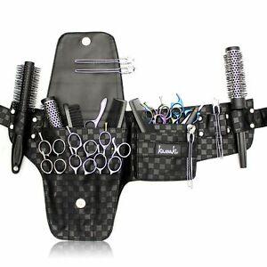 Kassaki Hairdressing Scissors Tool Belt Waist Pouch shear Storage Case Black