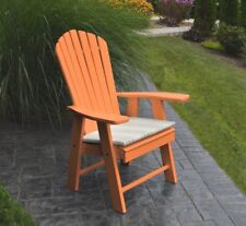 Outdoor Poly Upright Adirondack Chair - Orange - Made in Usa