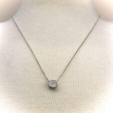 Article 22 Silver Diamond Necklace Sustainable Little But Fierce Circle Pendant