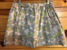 J. Crew Gray Print Lined Skirt Women's with Pockets Size M