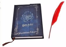 Harry Potter Diary Planner Journal Notebook & 5x Artificial Feather Quill Pen UK