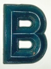 """Letter """"B"""" Blue Dimensional Decorative Art Wall Hanging Hard Plastic Composition"""